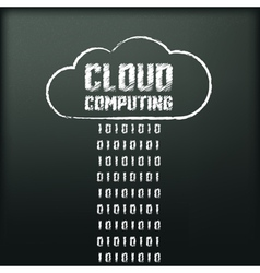 blackboard with image of cloud computing vector image vector image