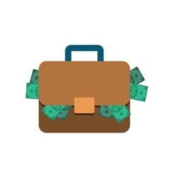 Briefcase with Money Icon vector image