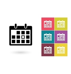 Calendar icon or calendar pictogram vector image vector image
