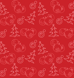 Christmas themed seamless pattern vector