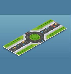 City isometric freeway vector