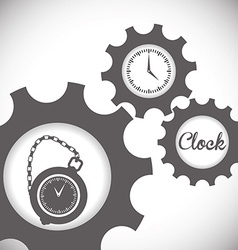 Clock design vector image
