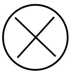 close button icon vector image