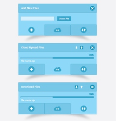 Download upload and cloud download upload UI vector image