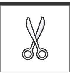 Garden secateurs icon vector image vector image