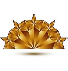 Glamorous template with pentagonal golden star vector