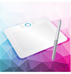 graphics tablet with stylus vector image