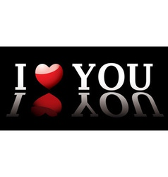 I love you design element vector image vector image