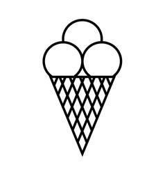 Ice cream symbol 1806 vector image