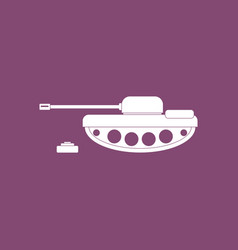 Icon military tank and mine vector