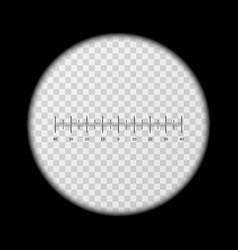 Monoculars spyglass view template vector