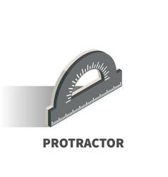 protractor icon symbol vector image vector image