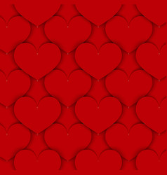 Red paper hearts background vector