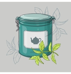 Round tin packaging vector