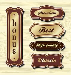 Set design elements sample labels badges shapes vector