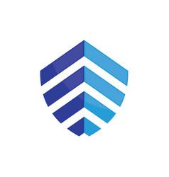 shield business finance logo image vector image vector image