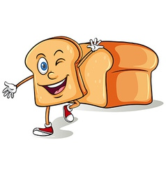Sliced bread with a face vector image