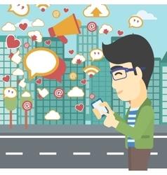 Social media applications vector image