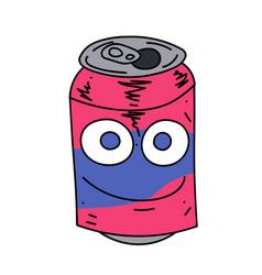 soda can character cartoon hand drawn image vector image vector image
