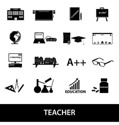Teacher profession and teaching icons eps10 vector