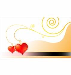 template golden valentine card vector image vector image