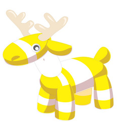 toy baby deer stripes nice gift for kids vector image