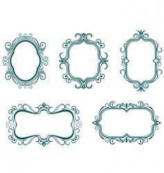 Vintage frames vector