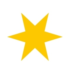 Star gold isolated icon vector