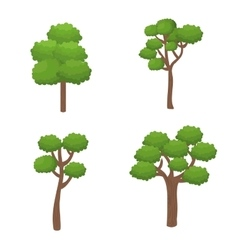 Trees forest nature icon vector