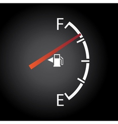 Fuel gage vector image