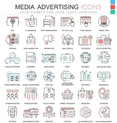 Media advertising ultra modern color vector