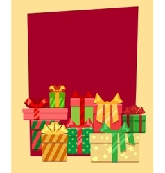 Christmas frame or greeting card template vector