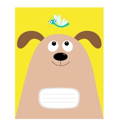 Notebook cover composition book template dog big vector