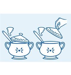 Home kitchen pot vector