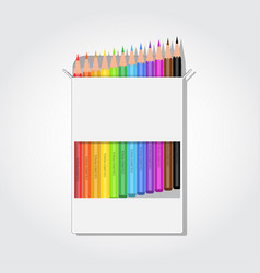 Blank box with pencils vector