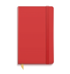 Red copybook with elastic band vector