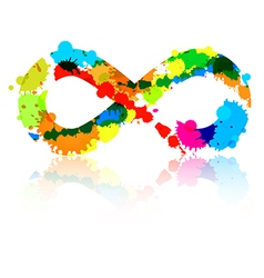Abstract colorful infinity symbol made from vector