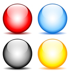 Blank buttons set vector
