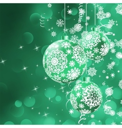 Christmas bokeh background with baubles EPS 8 vector image