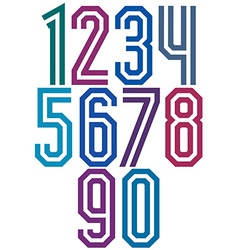 Double line geometric numbers vector