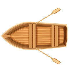 A topview of a boat vector