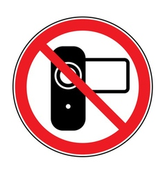 No shoot video sign vector