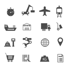 set of icons vector image