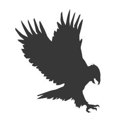 eagle silhouette icon vector image