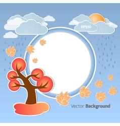 Autumn round background vector image