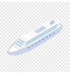 big ship isometric icon vector image