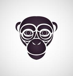 Chimpanzee logo vector image vector image