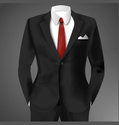 classic male black suit vector image vector image