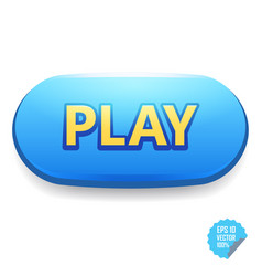 colorful button with play tittle bright vector image