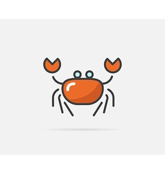 Crab can be used as logo or icon vector
